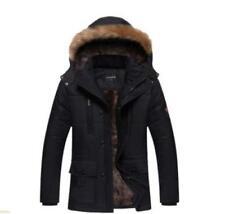 Warm Mens Thicken windproof Jacket Coat Snow Outwear Causal Faux fur hood Parka