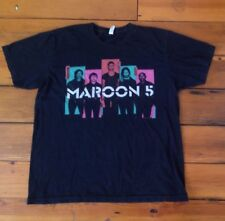 Maroon 5 2013 North Tour Concert T-Shirt Black Unisex American Apparel Xl 46""