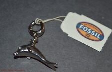 Fossil Brand Stainless Steel Dolphin JF00676 Silvertone Bracelet Necklace Charm
