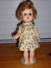 """Unmarked ~ Vintage 1950s HP 10"""" Working Walker Ginger Doll"""