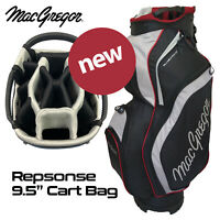 MacGregor 14-WAY Divider Response 9.5'' Golf Cart Bag - Black/Silver NEW! 2020