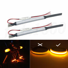 2pcs Adjustable Motorcycle Fork Tube Mount Turn Signal Indicator Light LED Strip
