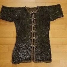 Chain-mail-shirt-9-mm-18-gauge-Flat-Ring-Dome-Riveted-With-Soiled-Ring-Size-M