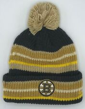 b129eae6adb NHL Boston Bruins Adidas Cuffed Pom Winter Knit Hat Cap Beanie Style  KW98Z  NEW!