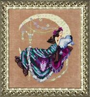 "SALE! COMPLETE XSTITCH KIT ""MOONFLOWERS MD137"" by Mirabilia"