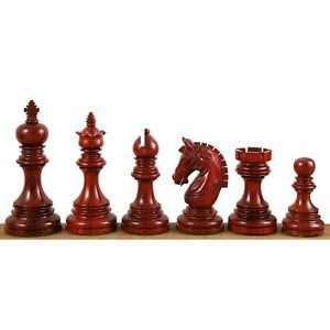 "4.1"" Stallion Staunton Luxury Chess Pieces Set - Triple Weighted Bud Rose Wood"