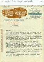 Dépt 29&44- Odet par Quimper- Belle Entête Célèbre Papiers à Cigarettes OCB 1934