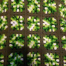 Handmade Vintage Black Multi Crochet Granny Square Afghan Blanket Throw 72 inch