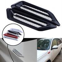 2x Black Car SUV Air Flow Fender Side Vent Hood Decor Stickers Cover Trim