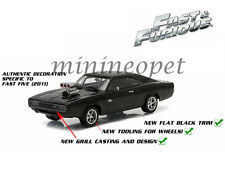 GREENLIGHT 86228 FAST AND FURIOUS FIVE 5 DOM'S 1970 DODGE CHARGER R/T 1/43 BLACK