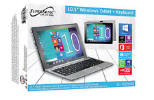 "Supersonic 10.1"" Windows Tablet + Keyboard 32GB SC-1032WKB NEW"