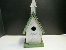 Wooden Rustic Farmhouse Distressed Bird House Hanging Outdoor