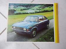 Austin Allegro 1300 SDL British Leyland 1974 sales brochure prospekt catalogue