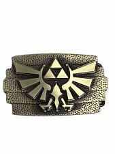 Zelda TRI-FORCE Goldtone Logo Metal Enamel BELT BUCKLE