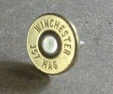 .357 Magnum Bullet Tie Tack. Unique un-dented primer! Most calibers available