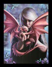 3d CUADRO CON DRAGÓN - DRAGON Kin - Anne Stokes Fantasy Foto Impresión Lienzo