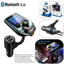 Bluetooth FM Transmitter for Car QC3.0 Wireless Radio Adapter MP3 Music Player