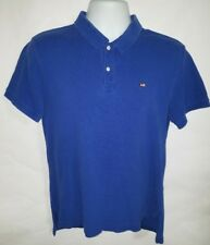 Ralph Lauren Polo Jeans Co Men's Blue S/S Polo Rugby Shirt Size Medium