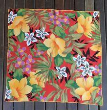Echo Vtg Amazing Floral Design Large Square Silk Designer Signed Scarf