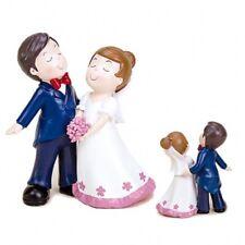Figura novios para pastel tarta de boda. 17 cm