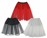 "Ladies 20"" Elasticated Underskirt Fancy Dress Fancy Petticoats Skirt"