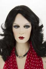 Black Brunette Long Human Hair Skin Top Wavy Straight Wigs