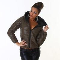 Piumino leggero donna giaccone giubbotto cappuccio giacchetto imbottito nuovo