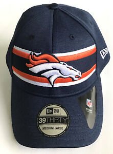 DENVER BRONCOS 39THIRTY FITTED HAT NEW ERA ON FIELD NFL FOOTBALL CAP