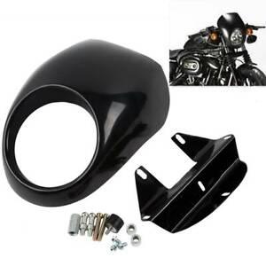 Cafe Drag Headlight Fairing Custom Visor Fit For Harley Sportster DynaFX/XL Fork
