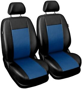 Front Leatherette seat covers fit Hyundai i30 1+1 black/blue