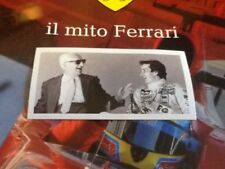 #114 Gilles Villeneuve Enzo Ferrari il mito FERRARI Sticker Preziosi Collection