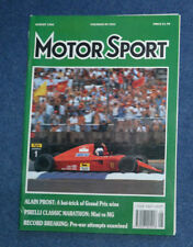 Motor Sport August 1990 Audi V8, Ford Fiesta RS turbo, Mitsubishi 3000 GT VR-4