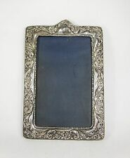 Antique Victorian Art Nouveau ornate silver photo frame WR Chester 1901