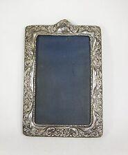 Antique Victorian Art Nouveau ornate silver photo frame WR Chester 1901