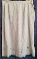 Susan Bristol Light Blue Skirt, Beaded w/ Flowers Sz 8 NWT