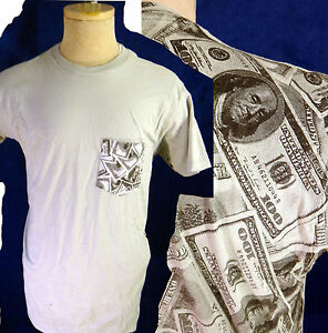 MONEY cash hundred dollar bill Pimp Hustler lottery player casino tee 100