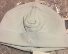 Ralph Lauren Cotton Hat  Baby Boy Hat One Size 0-6 Months Pearl Blue