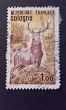 TIMBRE SOLOGNE CERF 1972 FRANCE