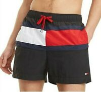 Tommy Hilfiger Mens Designer Board Shorts Swim Trunks Black Size M, L or XL