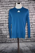Adidas Men's SIZE Large ClimaLite Long Sleeve Blue Shirt Athletic Running NWT