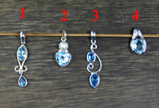 Swiss Blue Topaz Exclusive Pendant 925 Sterling Silver Gemstone Jewelry MP2303