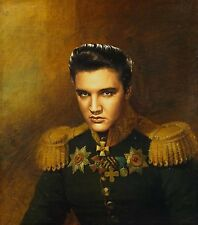 "100% Hand Painted Portrait Oil Painting on Canvas/General ""Elvis Presley"""
