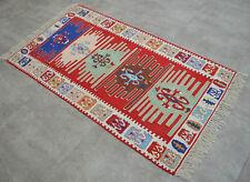 "Turkish Oushak Kilim Rug 33"" x 59"" Hand Woven Area Rug Pure Silk Kelim Rug Rugs"
