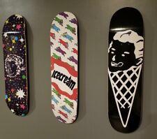 Trio of Pharrell Ice Cream BBC Skate Board Decks Limited Release BRAND NEW