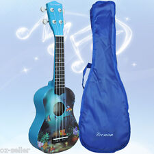 21 Inch 4 String Ukulele Ukelele Kid Bignners Uke Musiacal Instrument Free Bag