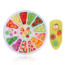 Fruit Slices Wheel Nail Art DIY Decorations Design UV Gel Tips Sticker Fimo Gift