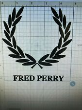 """FRED PERRY STICKER DECAL 5"""" X 5.1"""""""