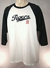 Detroit Tigers Csa Raglan 3/4-Sleeve T-Shirt Navy Blue/White Men's L