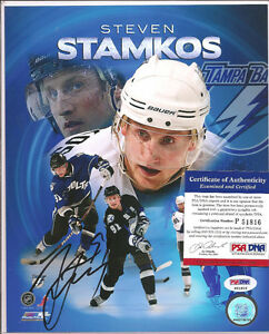 Steven Stamkos Signed 8x10 Photo PSA DNA COA Tampa Bay Lightnings Autographed b