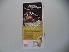 advertising Pubblicità 1972 LONGINES MOD. 47635.01